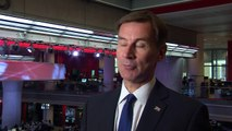 Jeremy Hunt 'confident' of getting through to third round