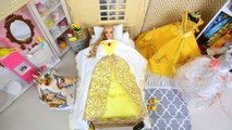 Barbie Doll Princess Bedroom Morning Routine - Beauty - The Beast Dress up