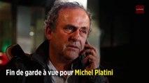 Fin de garde à vue pour Michel Platini