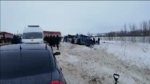 Mueren siete personas, entre ellas cuatro niños, en un accidente de autobús en Rusia