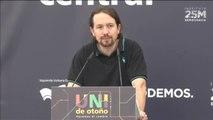 """Iglesias recuerda a la 'la extrema derecha' que que """"al Rey no le ha elegido nadie"""