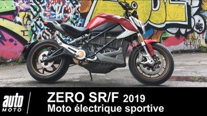 ZERO SR/F 2019 la plus sportive moto électrique ESSAI POV Auto-Moto.com