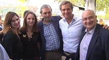 Levy visita la caseta del PP de Leganés