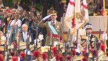 Los Reyes de España acuden al desfile del Día de la Hispanidad