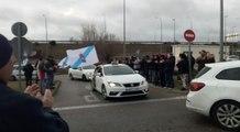 Una caravana de 100 taxistas gallegos llega a Madrid