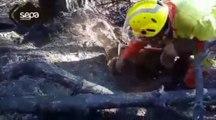 Bomberos realizan tareas de remate de un incendio en Asturias
