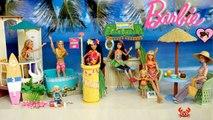 Barbie Toy Hotel Bedroom - Hawaiian Beach Resort with Doll Pool - Beach