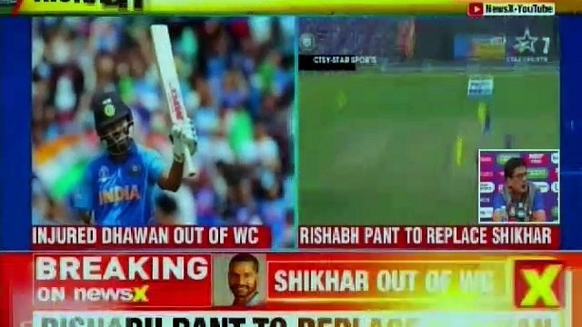 Shikhar Dhawan ruled out of ICC World Cup 2019, Rishabh Pant to replace