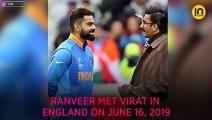 World Cup 2019 Ind vs Pak: Virat Kohli and Ranveer Singh share a warm hug post victory, video inside