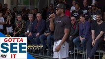 GOTTA SEE IT: Kawhi Leonard Does Signature Laugh During Speech At Raptors Parade-
