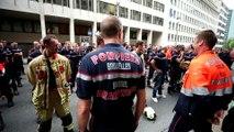 Belçika'da itfaiyeci grevi - BRÜKSEL