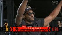 Kawhi Leonard speech at championship celebration