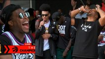 Kyle Lowry, Danny Green, Paskal Siakam speech at championship celebration