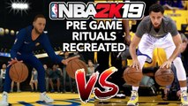 NBA PLAYERS PRE GAME RITUALS RECREATED IN NBA 2K19