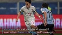 Japón frenó a Uruguay, que deberá jugarse el boleto a cuartos contra Chile