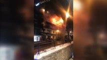Dos personas mueren en el incendio de una estación de esquí en los Alpes