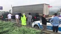 BURSA TIR kaza yaptı, Bursa - İstanbul karayolu trafiğe kapandı
