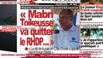Le Titrologue du 19 Juin 2019 : Présidentielle 2020, Mabri Toikeuse va quitter le RHDP