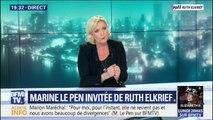 """PMA: Marine Le Pen estime qu'on """"ne peut pas dire à un enfant 'tu es né de deux femmes' ou 'tu es né de deux hommes'"""""""