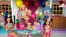 Barbie Chelsea Birthday Party Routine in Hello Dream House