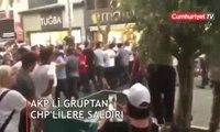 İmamoğlu'nun mitinginde AKP'li grup CHP'lilere saldırdı