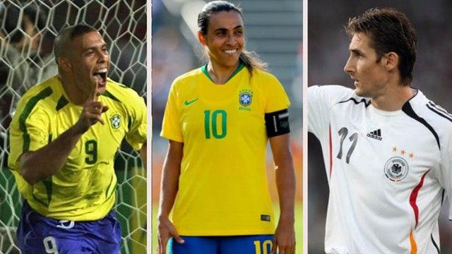 Marta na frente! Veja os maiores artilheiros em Copas do Mundo