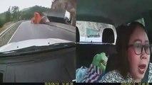 Un camion se renverse sur une automobiliste