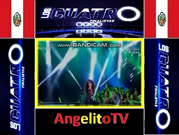 """Los Cuatro Finalistas Perú 14-04-18 Angelica Pineda canta """"Sweet child o' mine"""""""
