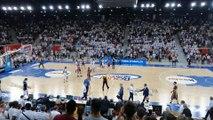 La joie des supporters du Rouen Métropole Basket  au coup de sifflet final