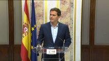 Rivera pide al Gobierno que haga público el informe sobre las pruebas antiplagio de la tesis de  Sánchez
