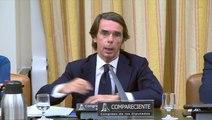 José María Aznar responde a Mikel Legarda en la Comisión de Investigación de la financiación ilegal del PP