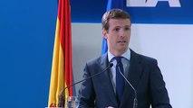 """Pablo Casado tilda de """"política de vuelo raso, de luces cortas"""" los primeros 100 días del Gobierno de Pedro Sánchez"""