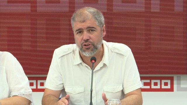 """CCOO cree que las """"buenas intenciones"""" del PSOE tienen que """"madurar"""""""