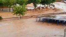 El monasterio de Santa María de Huerta destrozado por la riada