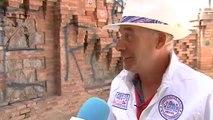 Indignación en Teruel tras una pintada en la emblemática Escalinata del Paseo del Ovalo