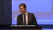 """Así es cómo Casado lanza su discurso del miedo sobre Catalunya: """"Si gana, se extenderá por la UE"""""""