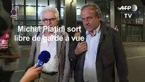 Michel Platini sort libre de garde à vue