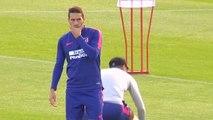 Simeone mima a Koke con una sesión de entrenamiento personalizada