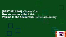 [BEST SELLING]  Choose Your Own Adventure 4-Book Set, Volume 1: The Abominable Snowman/Journey