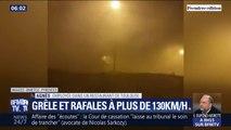 La grêle et de violentes rafales de vent ont frappé la France
