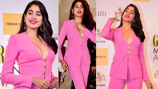 Jhanvi Kapoor looks hot in Pink Pantsuit at Grazia Millennial Awards 2019; Watch Video | Bol