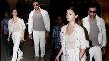 Alia Bhatt & Ranbir Kapoor leave for New York to visit Rishi Kapoor; Watch Video   FilmiBeat