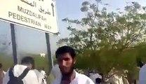 PTI Flag and Go Nawaz Go at Arafat