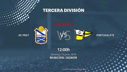 Previa partido entre AE Prat y Portugalete Jornada 3 Tercera División - Play Offs Ascenso