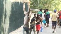 Siete guardias civiles heridos cuando trataban de impedir un asalto masivo a la valla de Ceuta