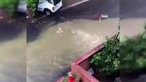 Sağanak yağmur Beykoz'da etkili oldu