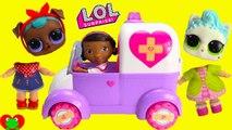 LOL Surprise Pets Dolls Wrong Heads Doc McStuffins Rosie Rescue Emergency