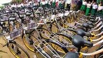 Des vélos recyclés pour les écoliers birmans