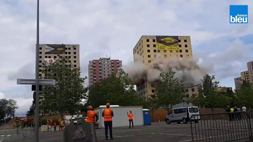 La démolition des trois tours des Résidences à Belfort