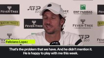 (Subtitled) 'Murray happy to play with me' Lopez ready to partner Andy Murray at Queen's despite match-fixing allegations